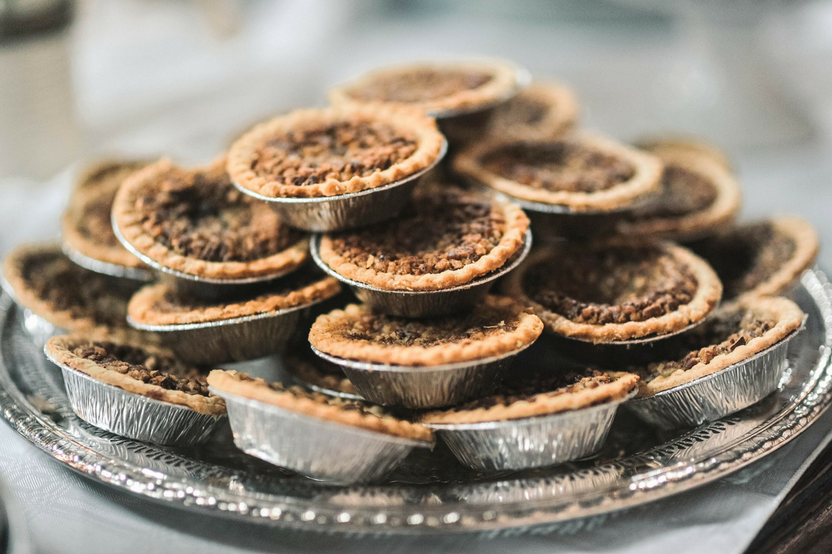 mini pecan pies for catered event