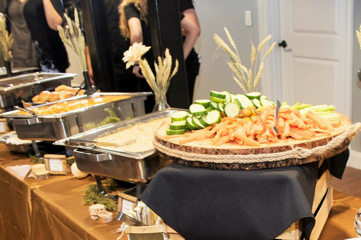 catering set up with sides from Local Dish