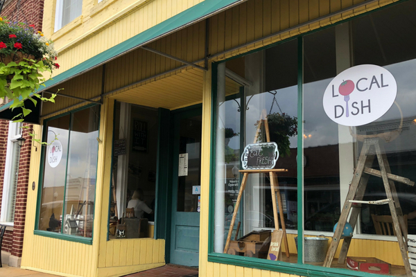 storefront of Local Dish on Main Street in Fort Mill, SC