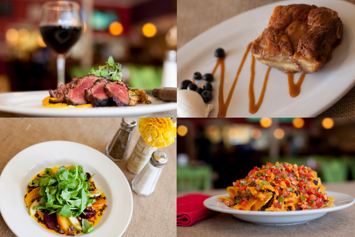 collage of Local Dish southern food menu items